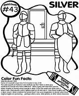 Silver Coloring Crayola Pages sketch template