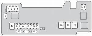 Toyota Aygo  Ab10  2012 - 2014  - Fuse Box Diagram