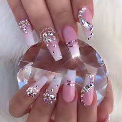 Nail designs bling art acrylic nails