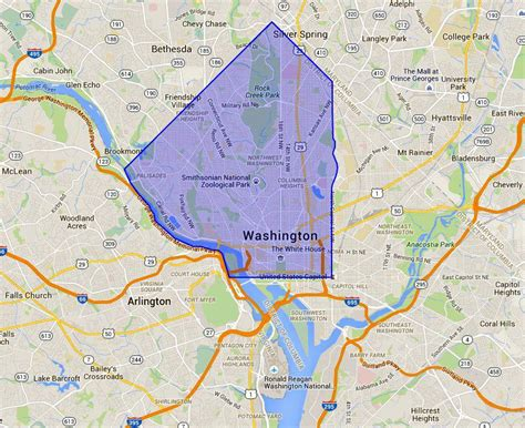 nw washington dc  map  neighborhood guide