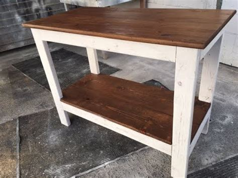 diy  rustic kitchen island project fast  easy