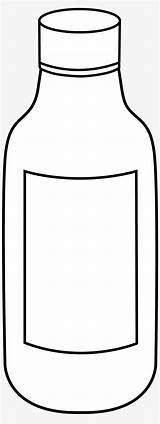 Coloring Bottle Vinegar Empty Clipart Pngkit sketch template