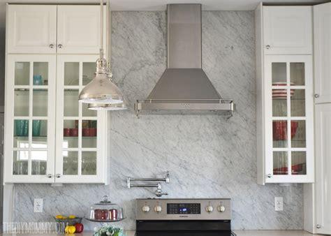 marble backsplash kitchen a marble panel backsplash for our diy kitchen 4002