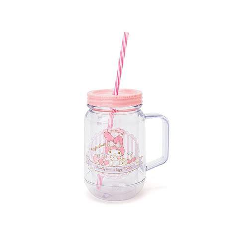 Coffee maniac cup mockup set. My Melody Plastic Mug with Straw - The Kitty Shop