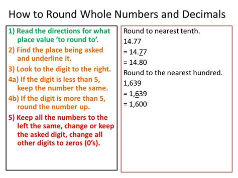 Rounding Whole Numbers And Decimals  Ppt Video Online Download