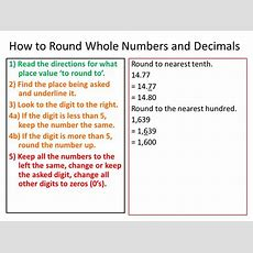 Rounding Whole Numbers And Decimals  Ppt Video Online
