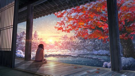 landscape anime wallpapers hd desktop  mobile