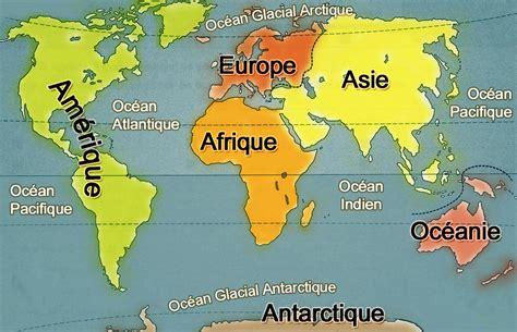 Carte Du Monde Continent Americain by Les Continents Arts Et Voyages