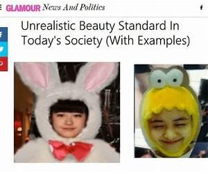 E GLAMOUR News and Politics Unrealistic Beauty Standard in ...