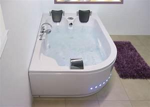 Baignoire Balneo 2 Personnes : baignoire d 39 angle asym trique g mauna loa baignoire d ~ Dailycaller-alerts.com Idées de Décoration