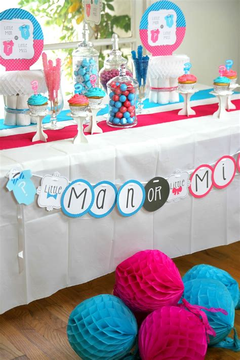 Baby Shower Gender Reveal by Bow Or Bow Tie Gender Reveal Baby Shower