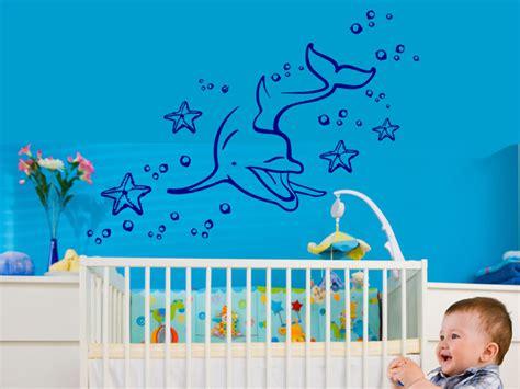 Wandtattoo Kinderzimmer Delfin by Wandtattoo Unterwasserwelt Mit Delphin Wandtattoos De