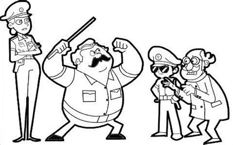 simple  easy  singham coloring pages