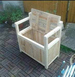 Toy box seat I made from pallets DIY Pinterest Toy