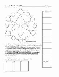 Color Theory Wheel Worksheet