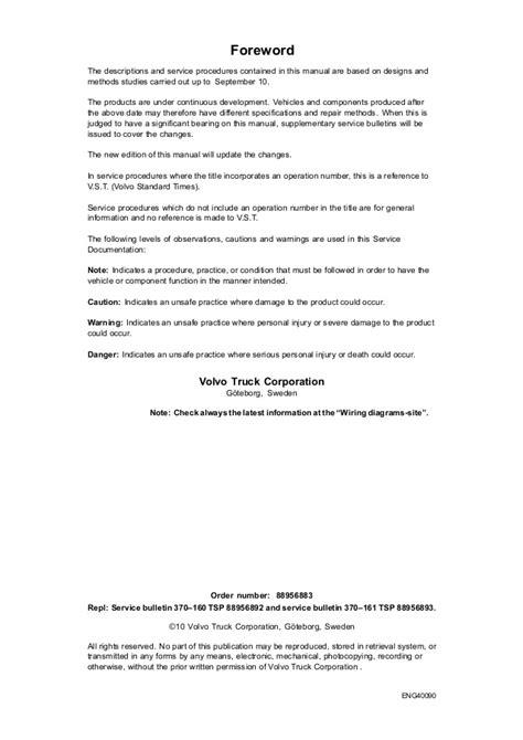 volvo fh4 truck wiring diagram service manual somurich com