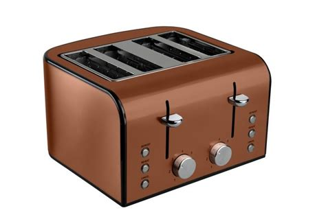 micasa edition  slice ss copper toaster home accessories home gadgets toaster
