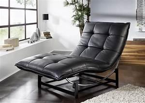 Chaise Longue De Salon : chaise longue de relaxation rockme l en cuir ~ Teatrodelosmanantiales.com Idées de Décoration