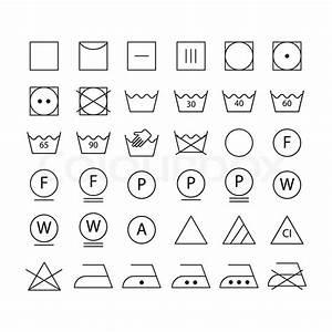 Weichspüler Symbol Waschmaschine : satz von waschmaschine symbole vektorgrafik colourbox ~ Markanthonyermac.com Haus und Dekorationen