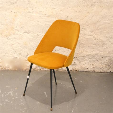chaise velours chaise cocktail velours jaune bindies
