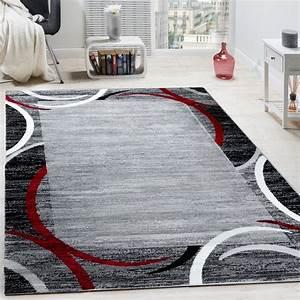 tapis de salon moderne avec bordure tapis de marque With tapis rouge tapis gris
