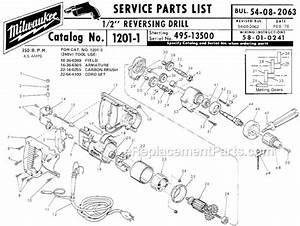 Milwaukee 1201-1 Parts List And Diagram