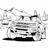 Ford Coloring Ranger Bronco Designers Angry Suv Sketches Stuck Parents Automotive Created sketch template