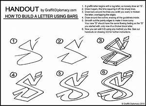 How To Draw Graffiti Letters Step By Step On Paper | www ...