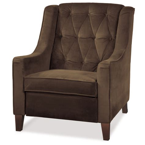 avenue six chocolate tufted chair dcg stores