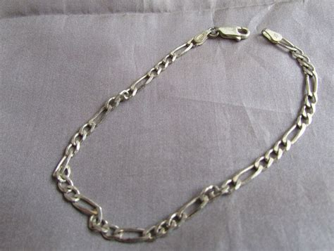 vintage italy  sterling silver tiny chain decorative