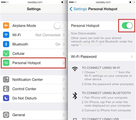 how to make your iphone a hotspot how to use personal hotspot on iphone to its