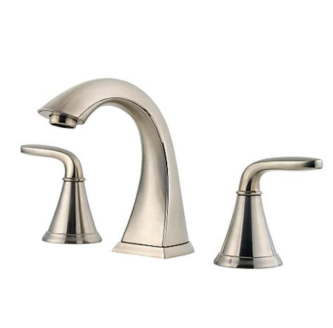 brushed nickel pasadena widespread bath faucet f 049 pdkk pfister faucets