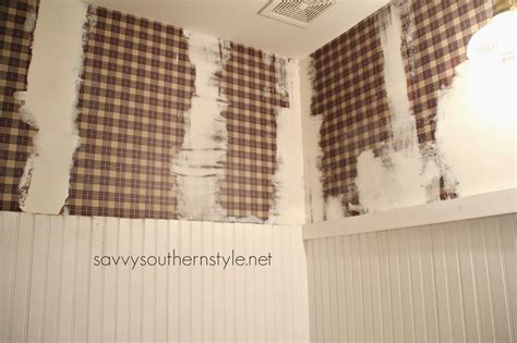 Savvy Southern Style : How To Paint Over Wallpaper