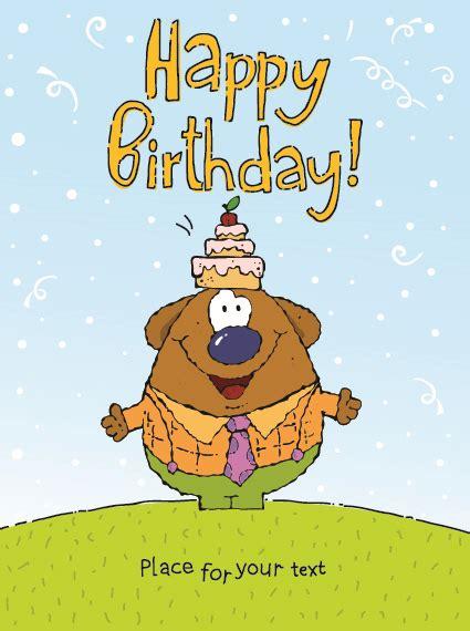 birthday card cartoon images card design template