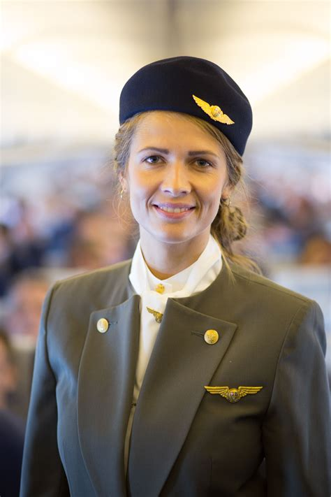 cabin attendant sas flight attendant elin maxweller pictured here in