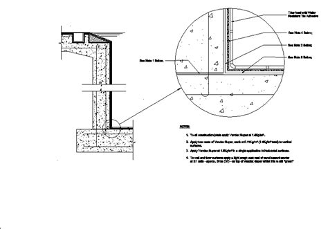 Swimming Poolwaterproofing Specifications Dwg Detail For