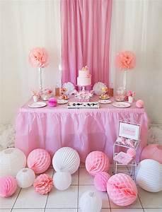 Decoration Pour Bapteme Fille : d coration bapt me fille en rose et blanc ~ Mglfilm.com Idées de Décoration