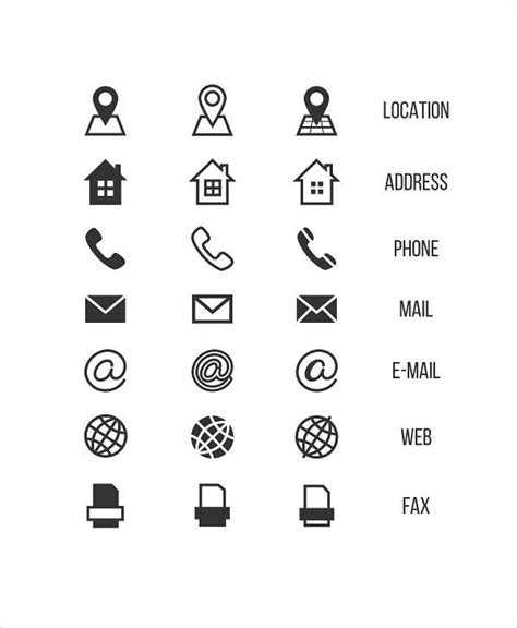 8+ Business Card Icons - Designs, Templates