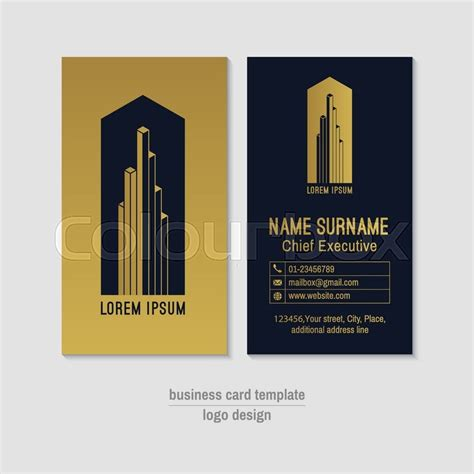 abstract vertical vector business card stock vector