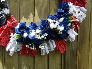 Patriotic, Fabric, Wreath