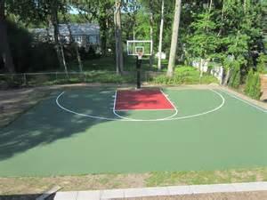 Concrete Backyard Basketball Courts