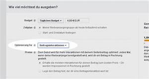 Facebook Rechnung : werbung auf facebook optimierung f r welches ziel immerinhalt ~ Themetempest.com Abrechnung