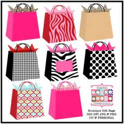 boutique gift bags clipart printable gift bag illustration