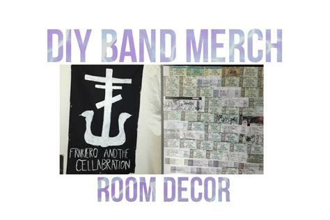DIY BAND MERCH ROOM DECOR YouTube