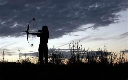 Shooting Arrow Sunset Sky Wallpapers Bow Cloud