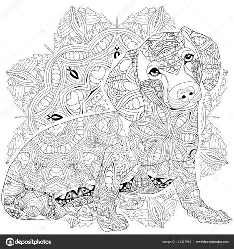 Kleurplaat Mandala Hondje by Kleurplaten Mandala Honden