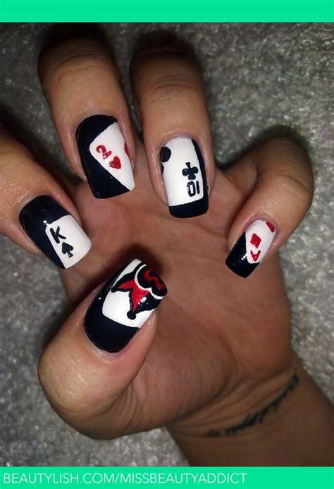 interesting card nail designs pretty designs