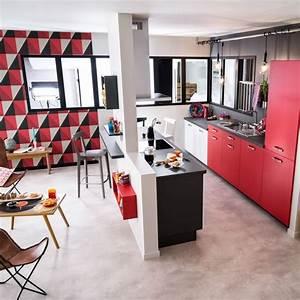 Cuisine Semi Ouverte Avec Bar : cuisine semi ouverte sur cool cuisine ouverte sur salon ~ Melissatoandfro.com Idées de Décoration