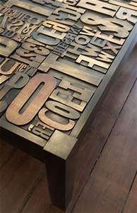 silk felt soil recycled design letterpress table and With letter coffee table
