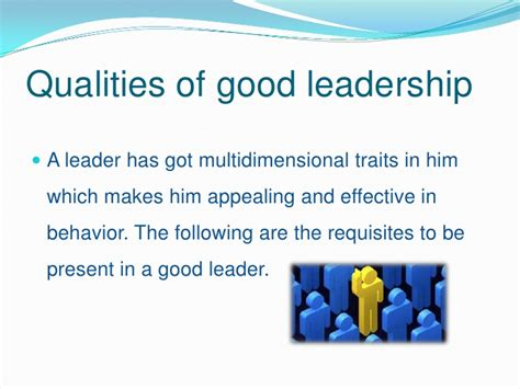 Qualities For A by Qualities Of Leadership